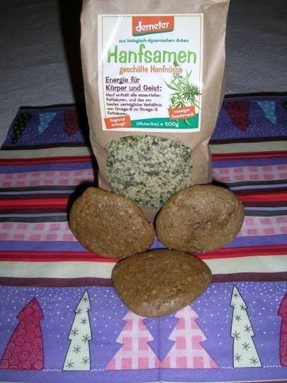 Glutenfreie Hanflebkuchen