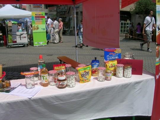 Zucker-Memory  in Nürnberg am Gesundheitsmarkt 2013