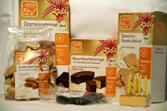 Lecker glutenfreie Plätzchen  in einer Vielfalt von Alnavit