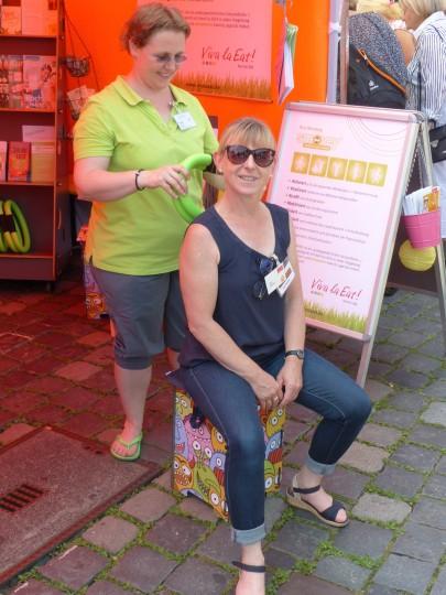 Ute Danzer und Tine Biß auf der Bio erleben am Hauptmarkt