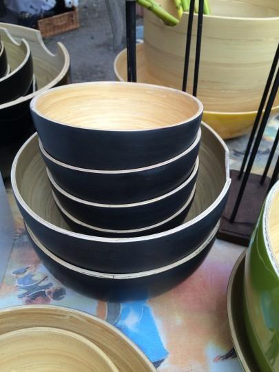 Bambusschüsseln mit edler Optik